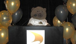 Bear blasts into spotlight