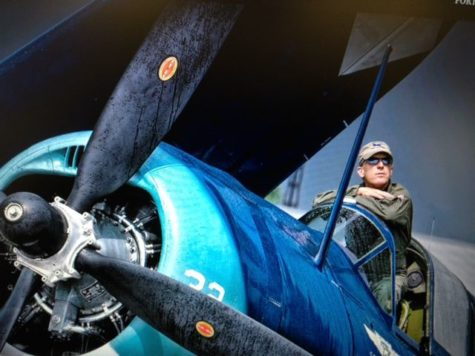 Pilot alumni flies WWII Helldiver, brings history to life