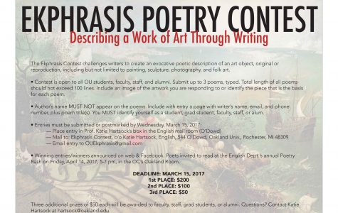 English department to hold Ekphrasis Poetry Contest