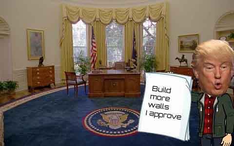 President Donald Trump likes to sign an executive order every week in the oval office.
