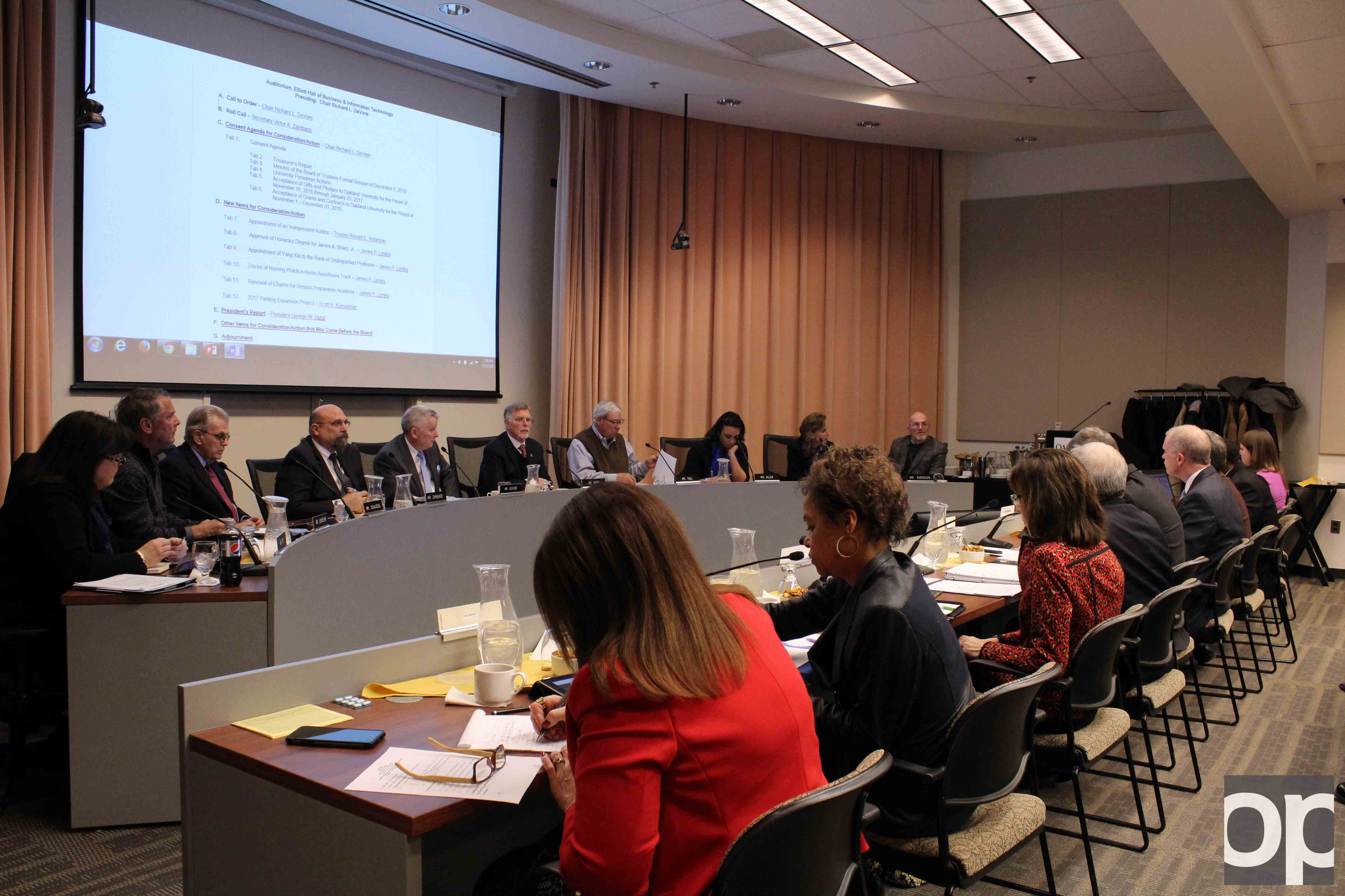 The Board of Trustees approved the parking proposal at their Feb. 13 meeting.