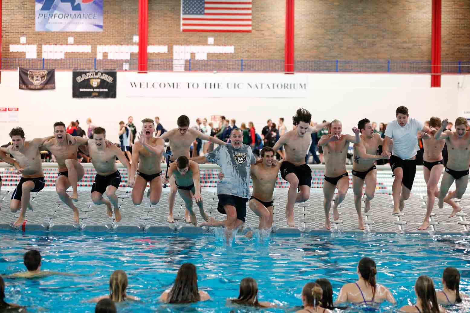 Day 4 - 2017 Horizon League Swimming & Diving Championships at the UIC Natatorium on Saturday, February 25, 2017 in Chicago. Oakland's men's and women's teams won their 39th and 23rd straight Horizon League titles, respectively.