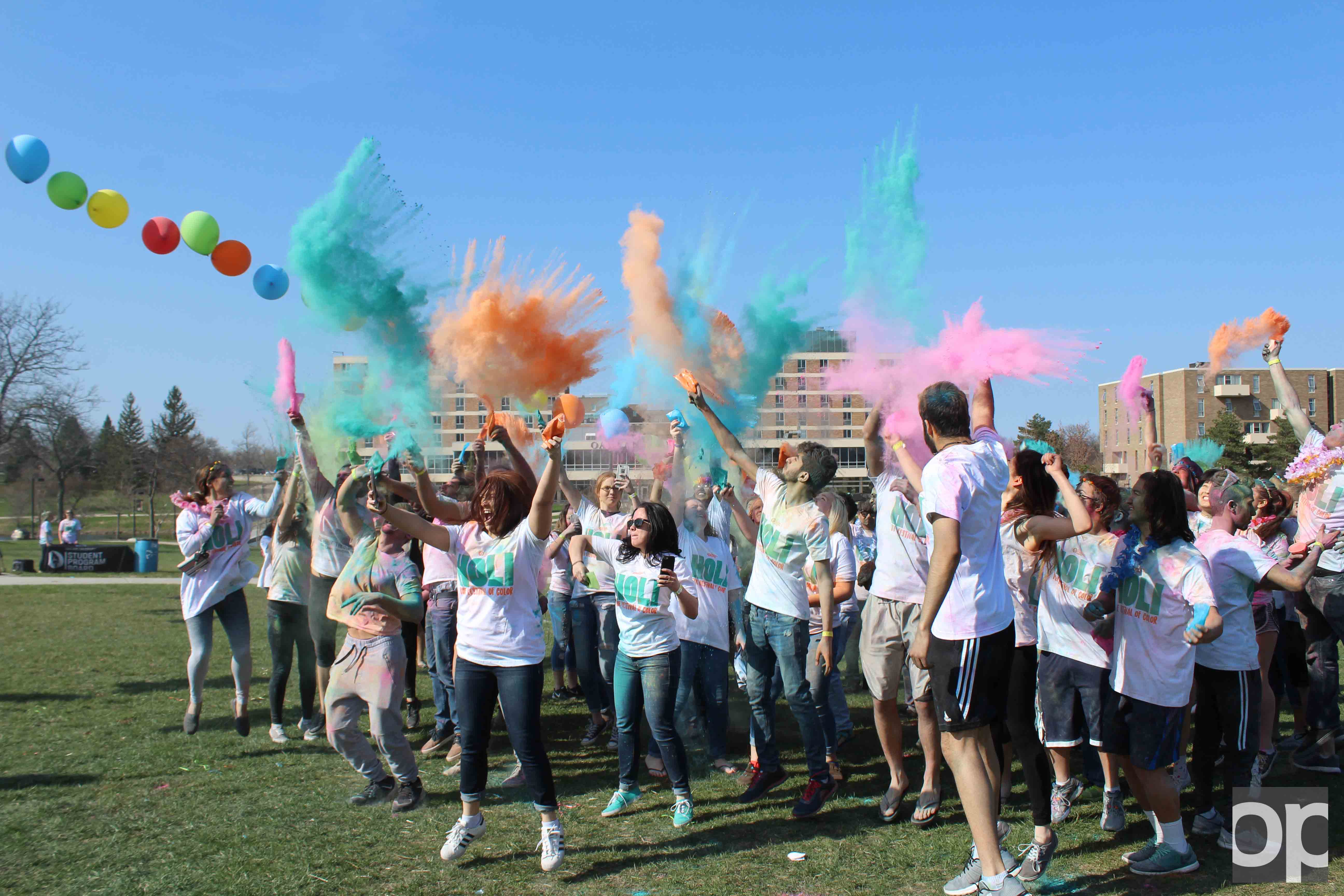 SPB hosted a Holi celebration, complete with music and balloons, to welcome the coming of spring on Friday, April 14.