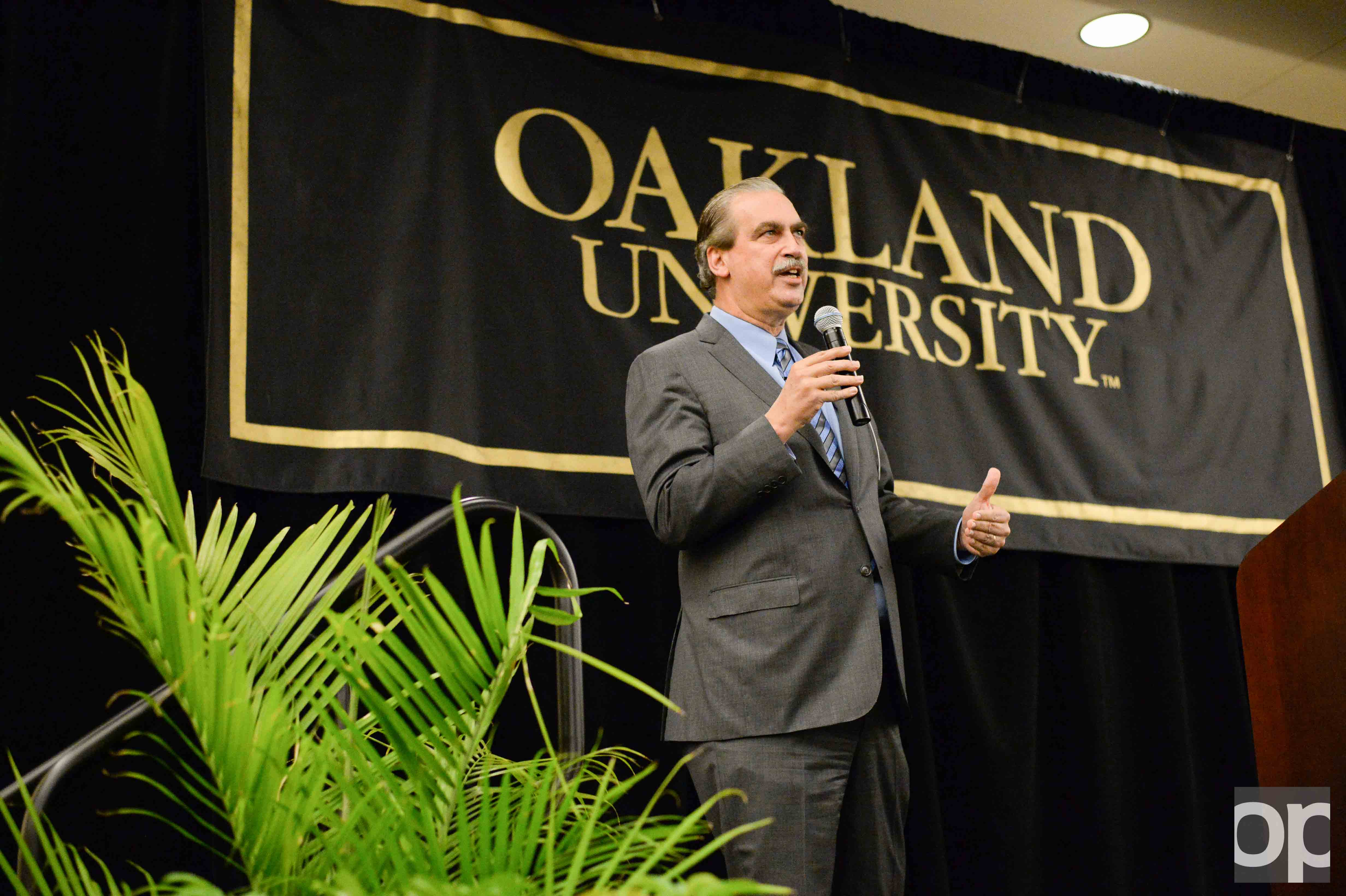 Carl Camden is one of two finalists in Oakland University's presidential search.
