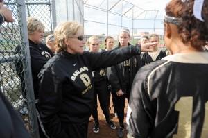 Head Coach Connie Miner, sotball team