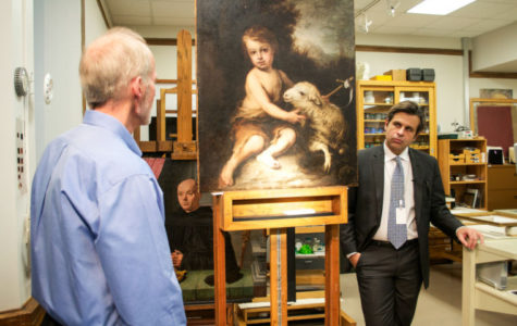 Paintingfound in Meadow Brook Hall restored by DIA