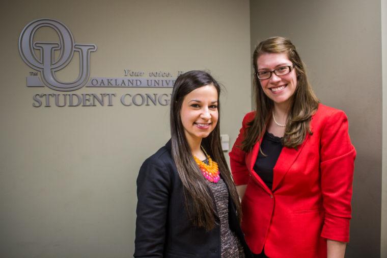 Student Body President Annie Meinberg and Vice President Liz Iwanski