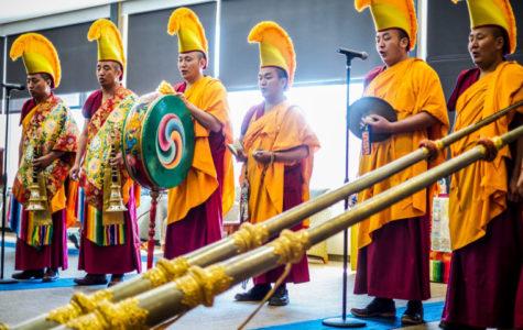 Tibetan monks share culture, make sand mandala in Oakland Center