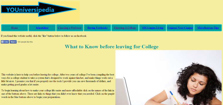 """""""I was encouraged to create the website to help inform college students in general about the tools that are available online that assist students academically,"""" Gozdor said of his website YOUniversipedia.com."""