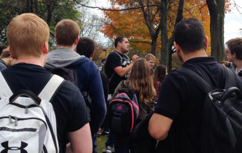 Preaching man causes chaos on campus