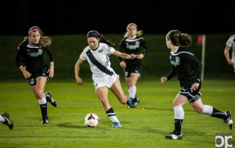Women's soccer tops Cleveland State 2-1