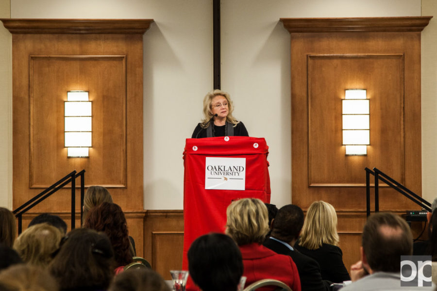 Mary Fisher, a globally renowned speaker and AIDS activist, shared her advice and experience with medical school students Monday, Dec. 1.