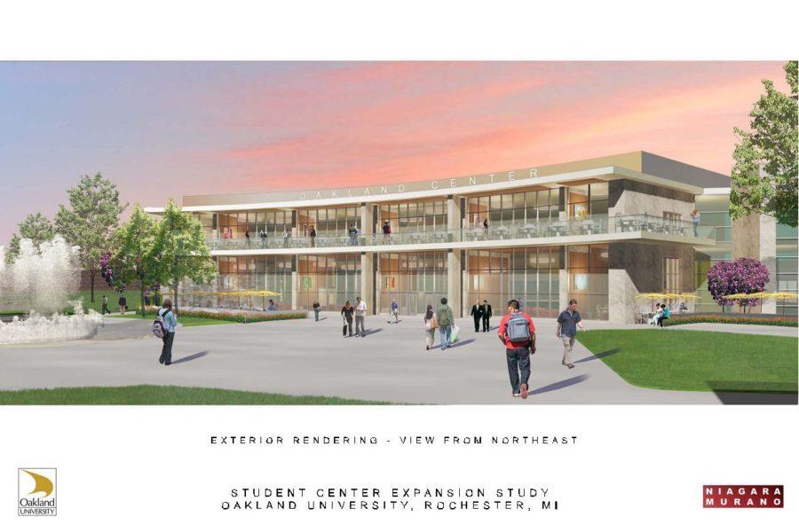 A conceptual design for the expanded Oakland Center.