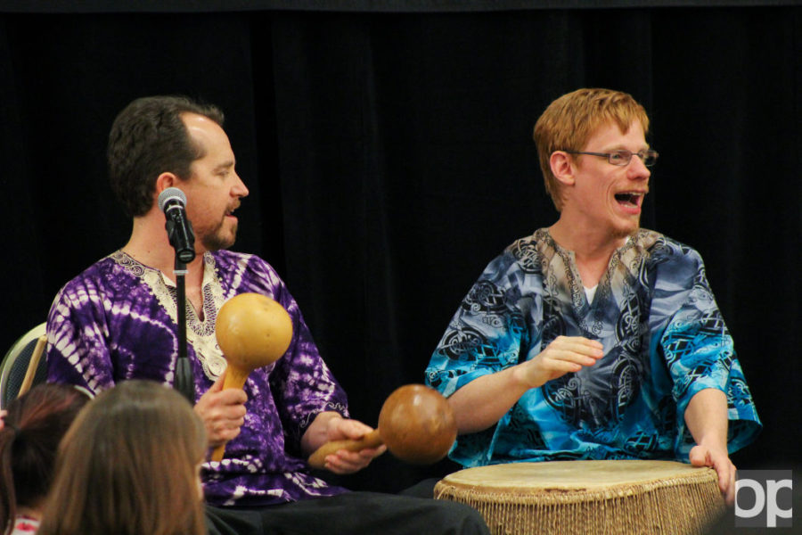 The OU African Ensemble played an assortment of songs for the audience in traditional rhythmical beats.