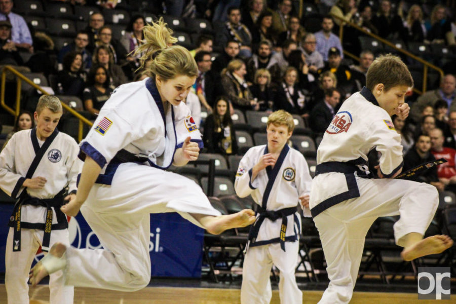Though they were racked with nerves, this karate team left the crowd in awe.