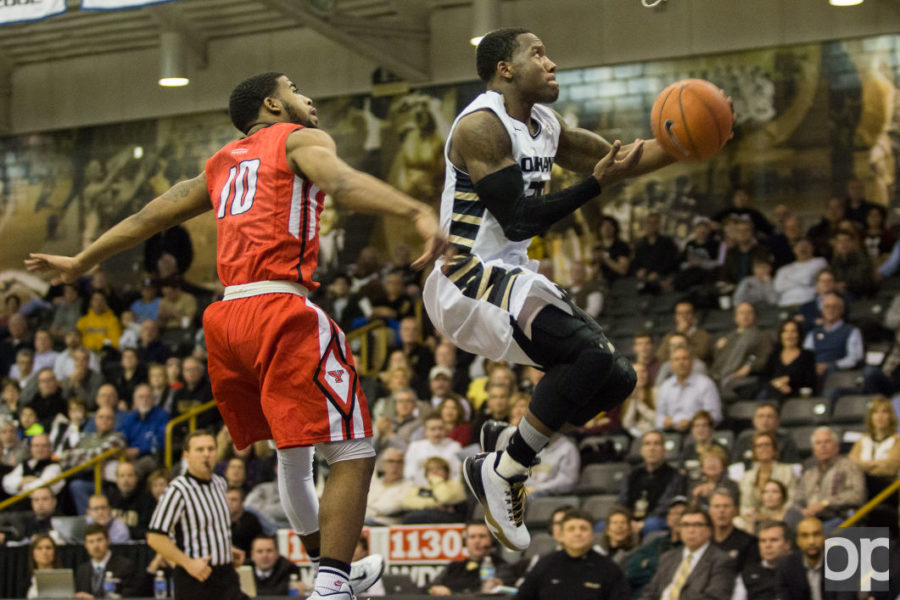 Kahlil Felder scored 17 points in the last game against Green Bay. The Golden Grizzlies finished third place in the Horizon League, exceeding the prediction that they'd finish seventh.