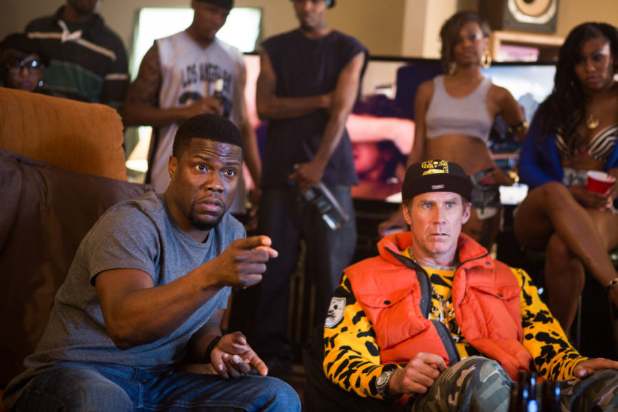 """Get Hard is a film about a millionaire hedge fund manager (Ferrell) who is found guilty of fraud and will serve time in prison. In order to get ready for a life behind bars, he turns to Darnell (Hart) to help him """"get hard."""