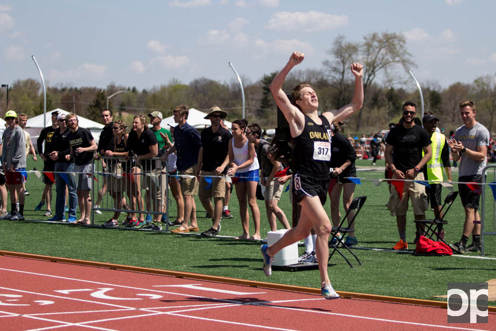 Men's track took third place at the Horizon League outdoor championship on Sunday, May 3.