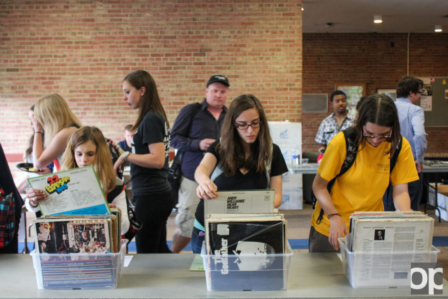 Students were able to bring their old records and swap them out for newer ones.
