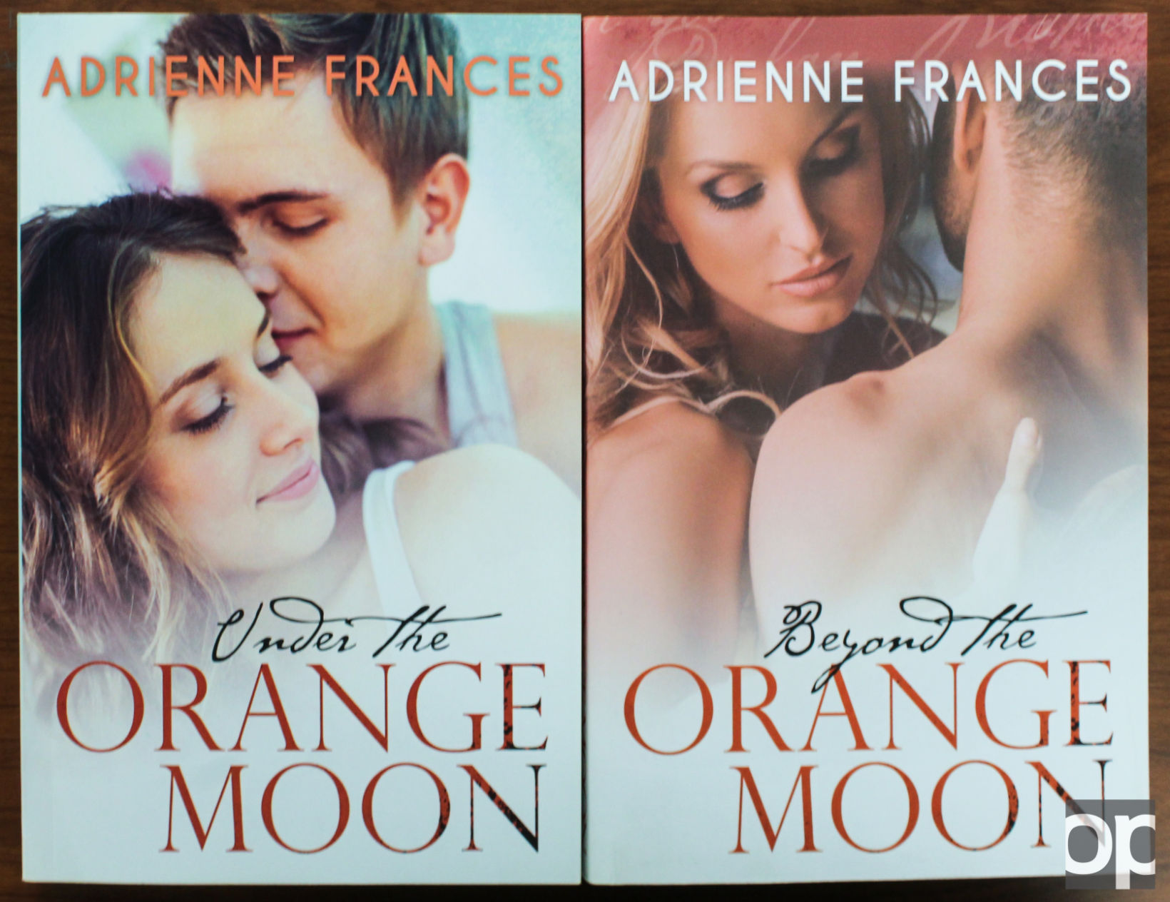 Adrienne Frances has a total of six books planned for the Under the Orange Moon series.