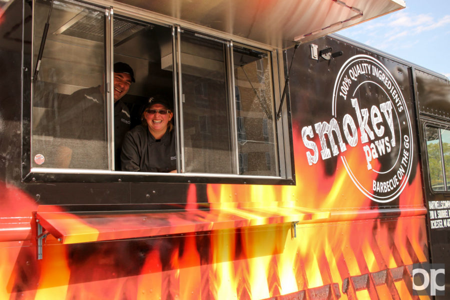 The truck will feature a variety of barbecued foods and sides, even having desserts. The cheapest option offered will be about $4, and the truck offers a couple of vegetarian options.