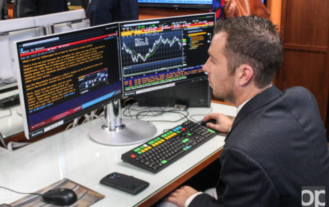 One of the new features of the data analysis lab are ten dual screen Bloomberg Terminals, which will allow students to monitor and analyze market data in real-time.