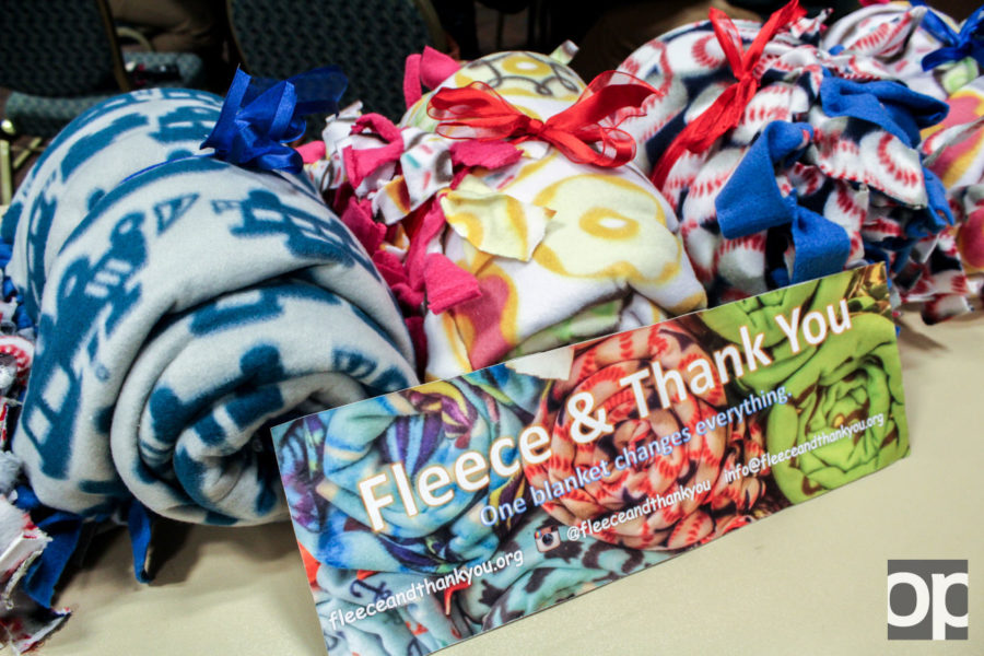 Non-profit organization Fleece and Thank You is dedicated to have a colorful fleece blanket and an encouraging video/card waiting for pediatric patients for when they have to check in to hospital rooms. The organization has over 500 blankets pledged by volunteers and donors.