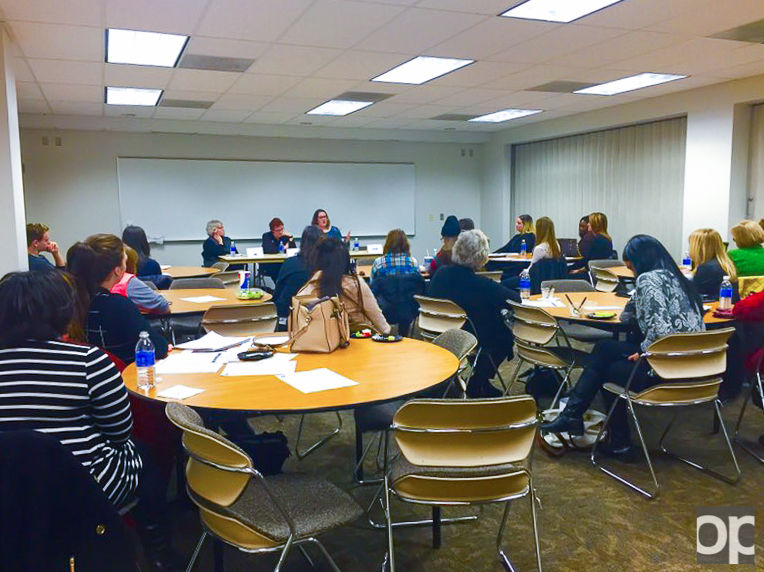 Oakland University's Women in Leadership class hosted three panels talking about the ways in which women have become leaders within the workplace.