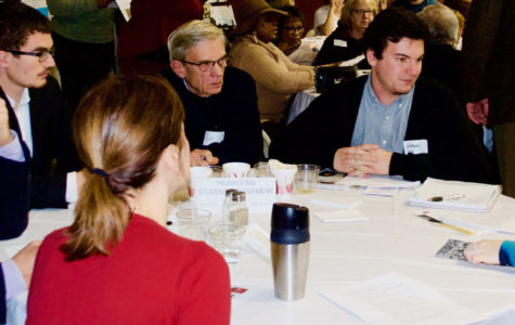 OU students and faculty discussed student engagement issues at the town hall meeting in Pontiac Saturday, Nov. 15.