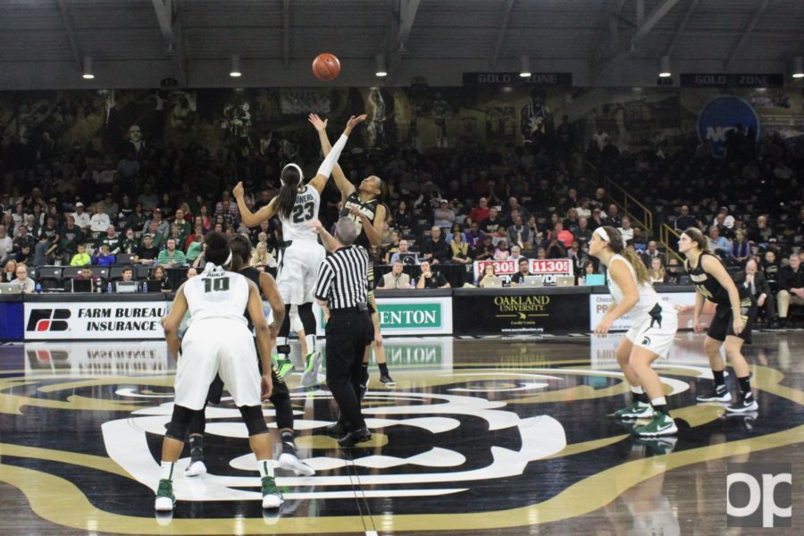 Oakland women's basketball took on Michigan State at 3pm on Sunday, Dec.13 in the O'rena.