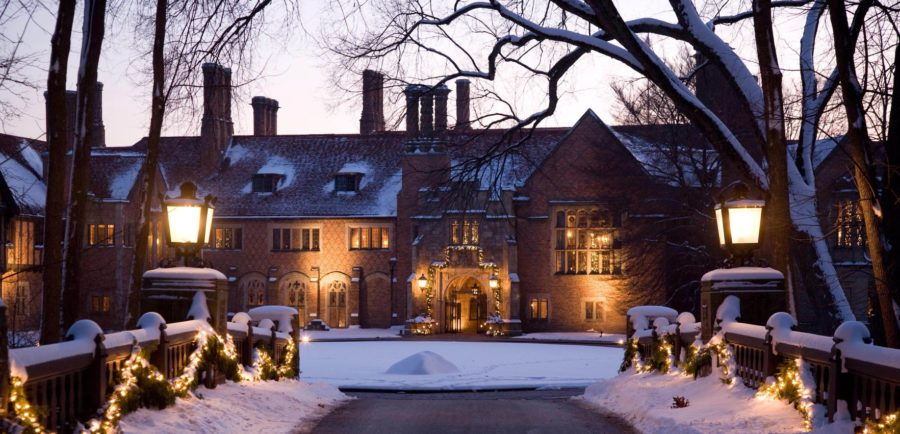 The holiday walk hosted at the Meadowbrook Hall allows people to tour the mansion between Thanksgiving and Christmas each year.