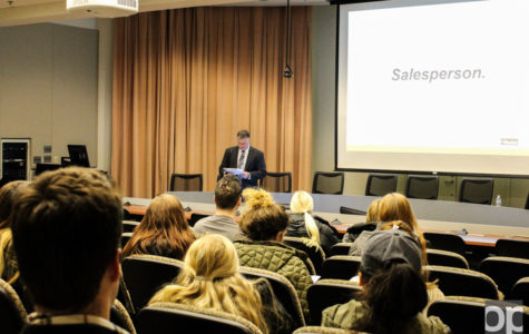 On Jan. 14, the Oakland University chapter of the American Marketing Association (AMA) hosted a professional sales presentation in Elliott Hall Auditorium.