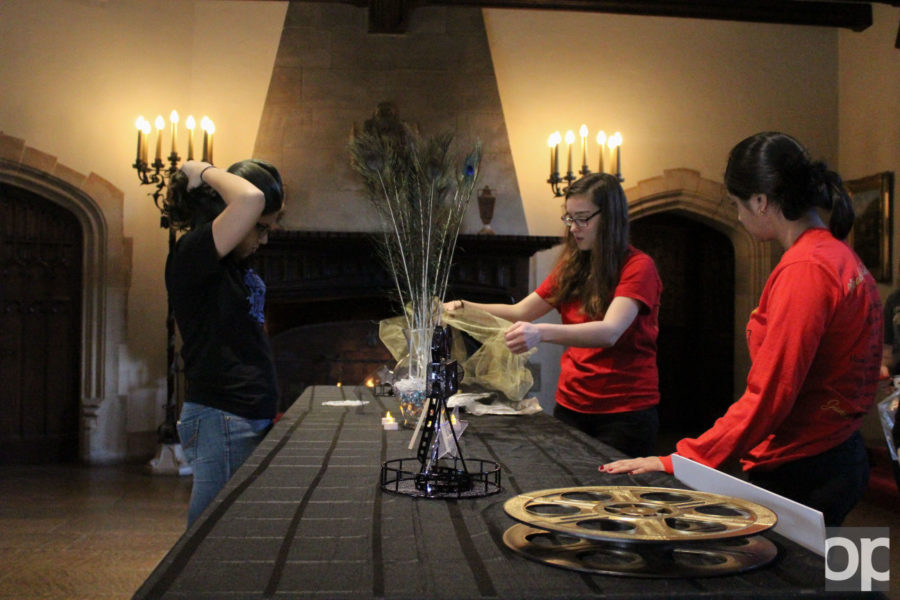 The Meadow Brook Ball Committee members helped setting up and taking down decorations for both nights at the mansion.
