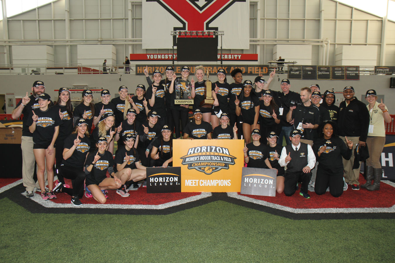 The women's track and field team brought home its first Horizon League indoor championship on Sunday, Feb.28.