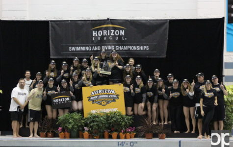 Oakland women's swim and dive team claimed its 23rd straight championship title this weekend as the Oakland Aquatic Center hosted the event.