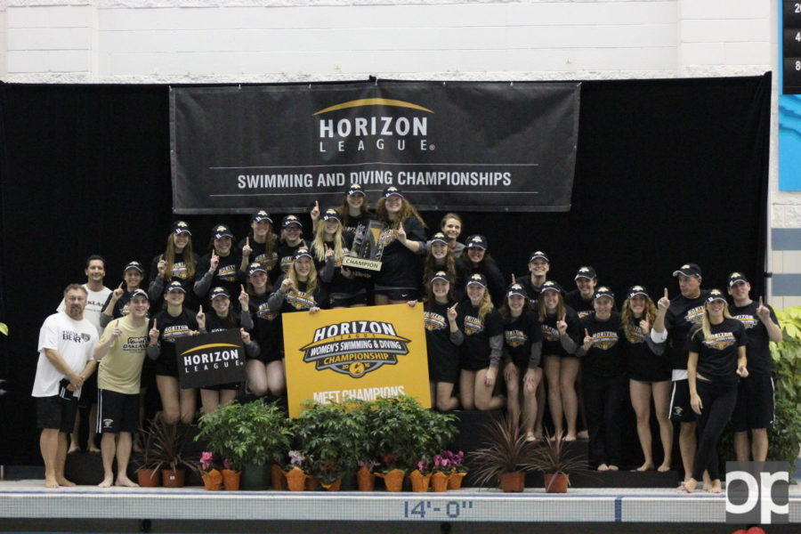 Oakland+women%27s+swim+and+dive+team+claimed+its+23rd+straight+championship+title+this+weekend+as+the+Oakland+Aquatic+Center+hosted+the+event.