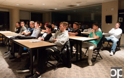 The men's soccer team gathers nearly every Sunday to discuss chapters from the book