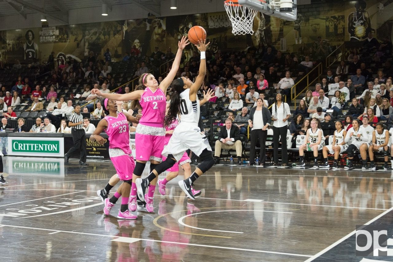 On Saturday, Feb. 27, the Oakland women's basketball team lost to UDM 82-77 in overtime at the O'rena.