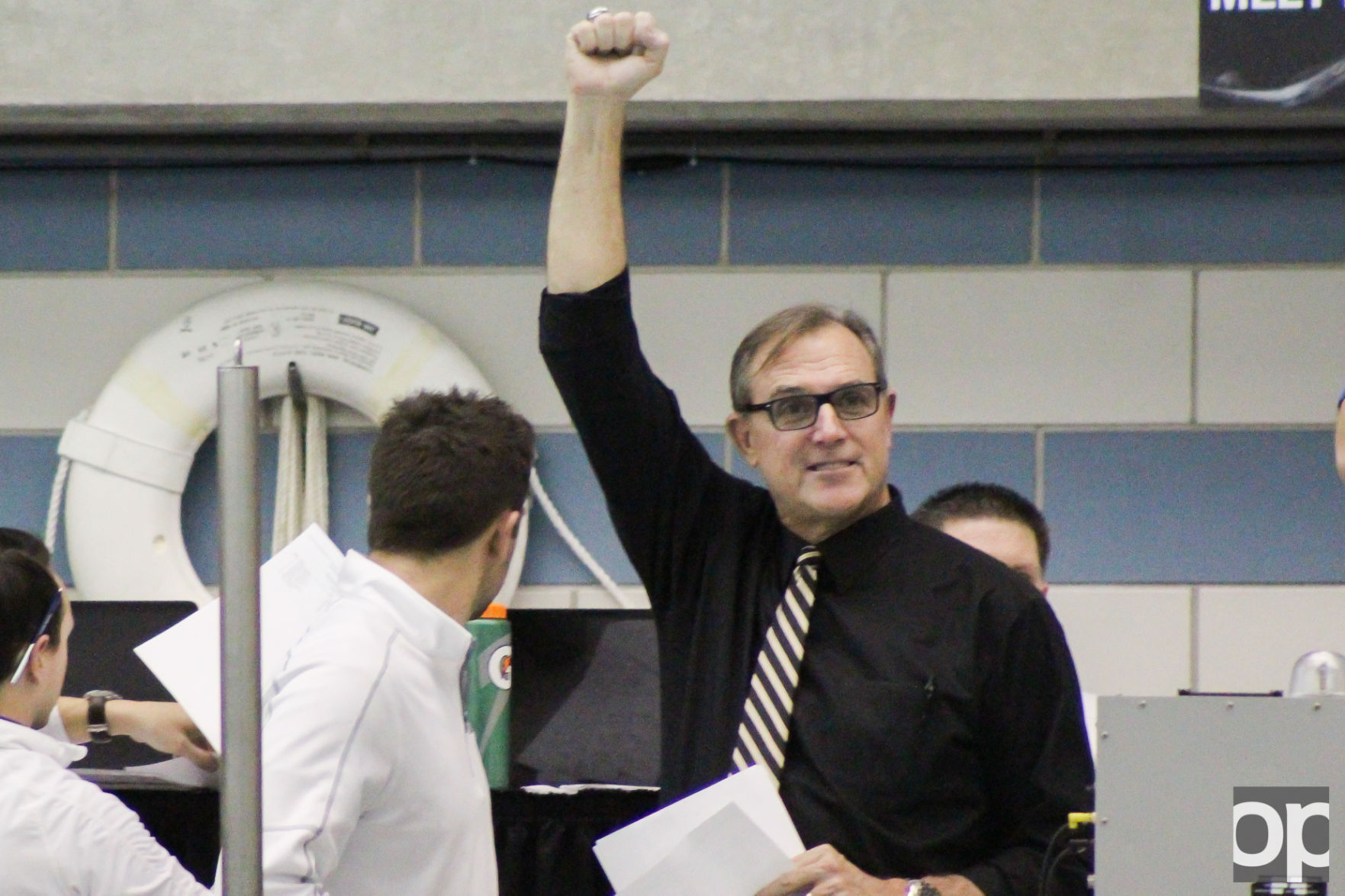 Oakland swimming and diving head coach Pete Hovland coached the men's swim and dive team to its 28th consecutive conference title and the women's to its 23rd straight.