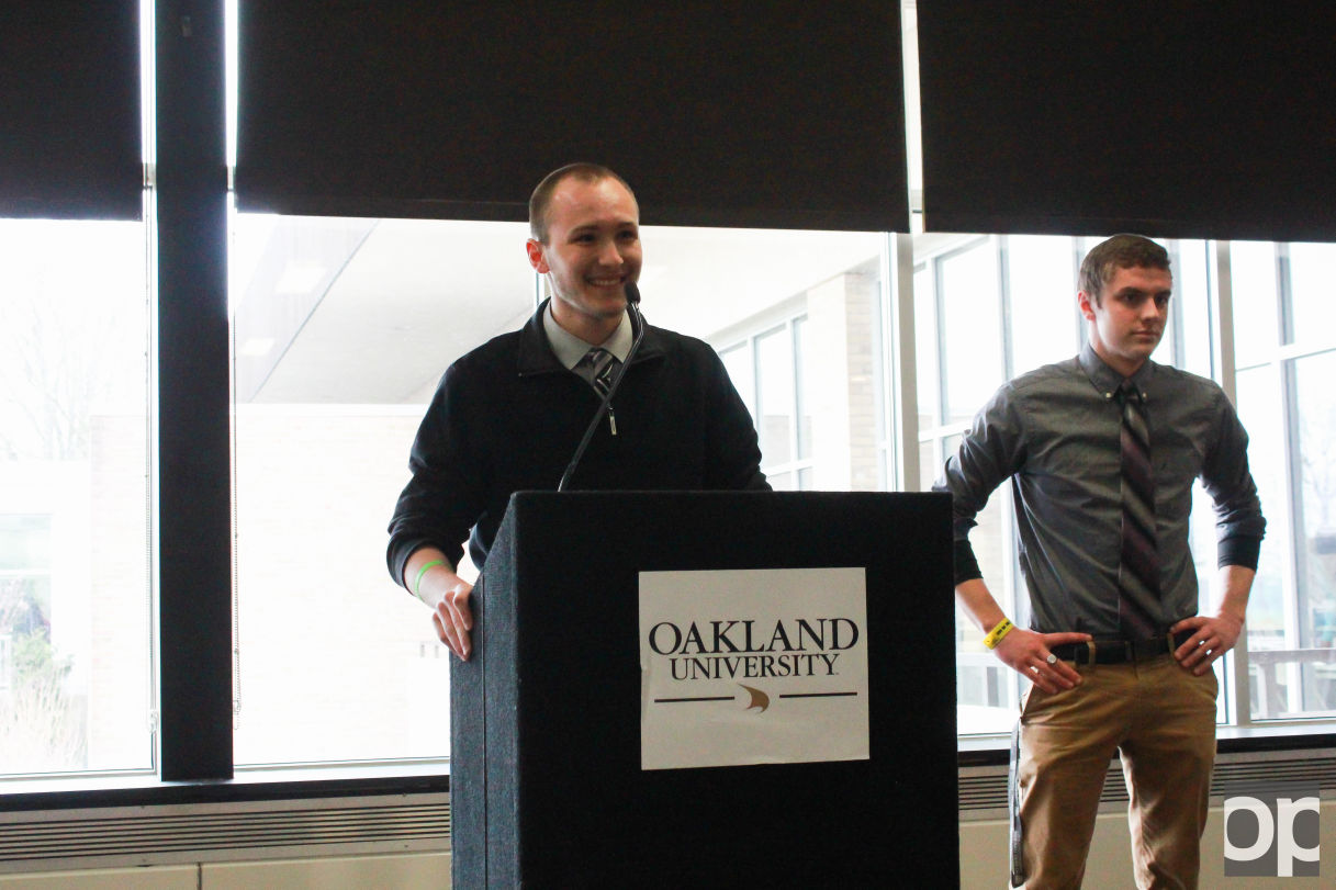 Zack Thomas and Anders Engnell were named the 2016-2017 OUSC president and vice president on Wednesday, March 23.