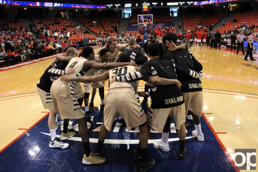 Oakland mens basketball (23-12) lost 68-67 to Old Dominion (25-13) in the finals of the Vegas 16 the night of Wednesday, March 30, at the Mandalay Bay Events Center.