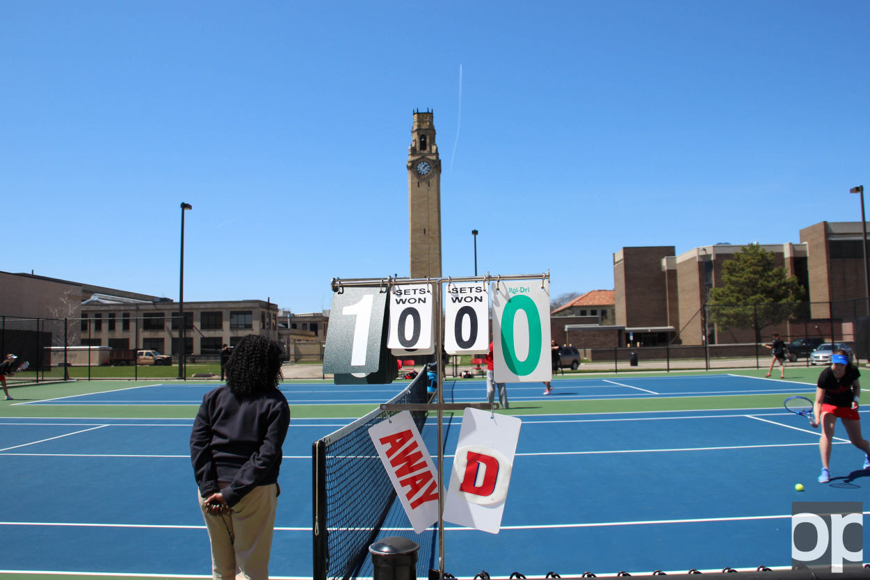 Oakland University Tennis won 5-2 against University of Detroit Mercy on Saturday, April 23 at the away match.