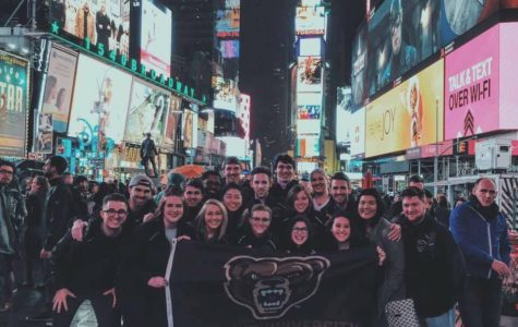 Oakland University's a cappella group, Gold Vibrations, competed in the final round of the ICCA on Saturday, April 30 at the Beacon Theatre in New York City.