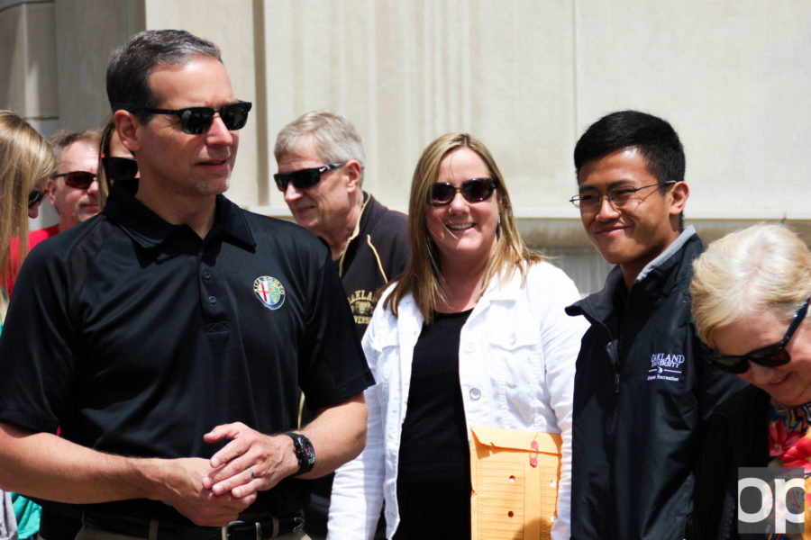 Scott Kunselman led the walk around campus on Thursday, June 9 as part of the Walks with Campus Leaders series.