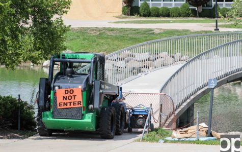 Bridge construction will address various hazards and be completed by the fall semester.