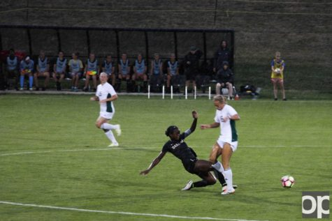 Oakland women's soccer team lost their first exhibition game at home 3-1 to Eastern Michigan on Friday, Aug. 12. The match was moved to the Oakland Sports Bubble after 30 minute rain delay in the first half.