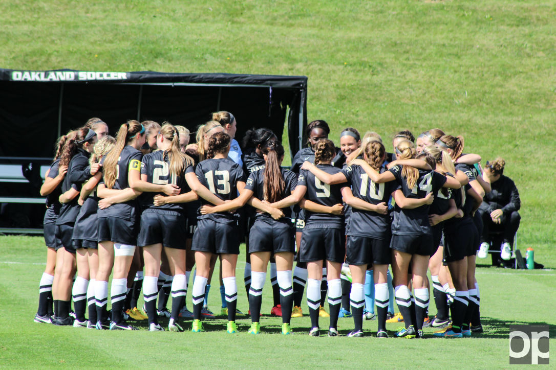 Oakland women's soccer are the reigning champions of the 2015 Horizon League Championship title.