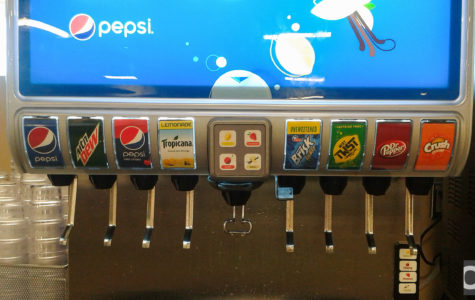 A new refreshment machine is available to students with variety of flavors in the Vandenberg dining hall.