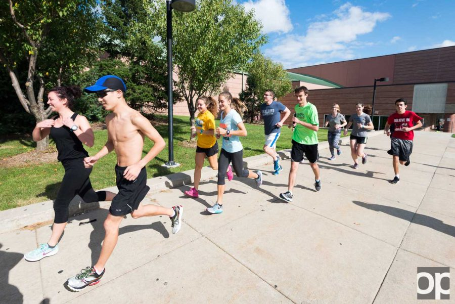 Running club was founded in 2012 at Oakland University. Students get together and run to stay healthy.
