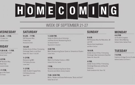 Homecoming Calendar